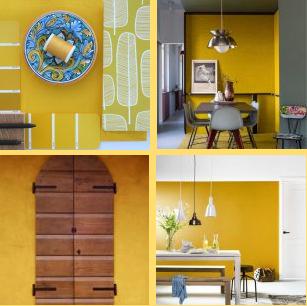 Fabulous colore caldo e vellutato il giallo nelle - Parete giallo ocra ...